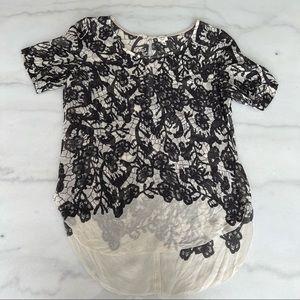 Aritzia Wilfred 100% Silk Flower Blouse - Size XS